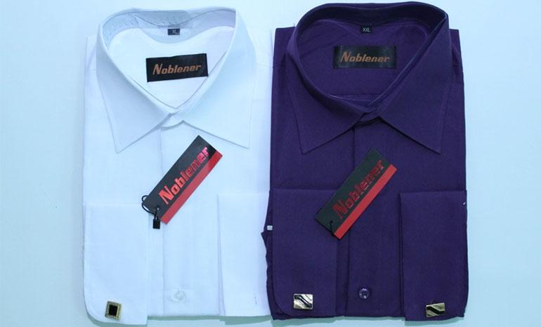Noblener long sleeve men's plain shirts