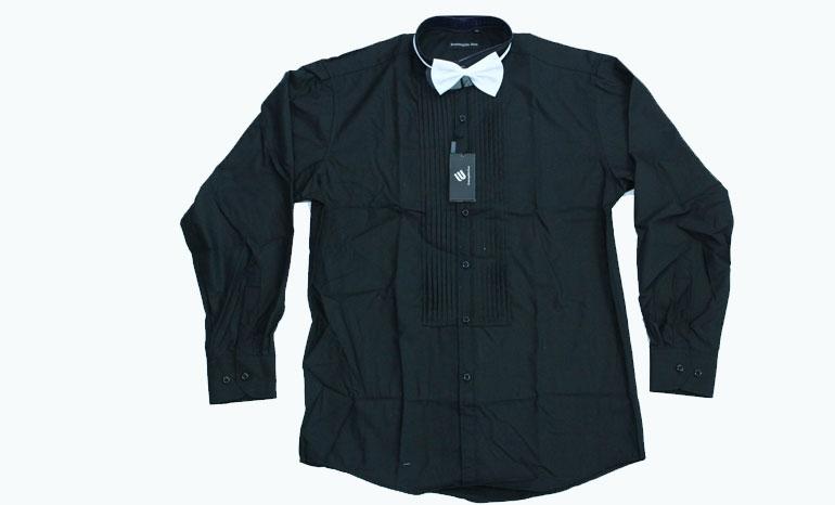 Elmenegildo Enzo Men's Plain and Striped Long Sleeved Shirts