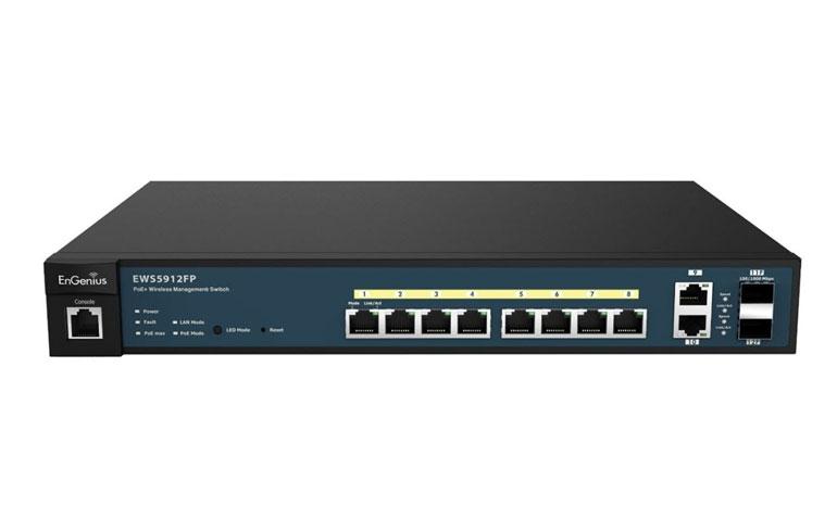 EnGenius EWS5912FP Neutron Series 8-Port Gigabit PoE+ Wireless Management Switch