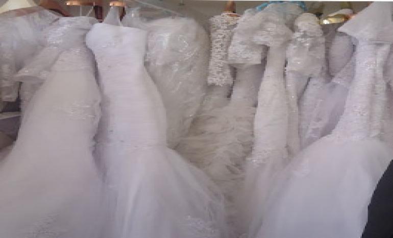 beauty white bridal dress