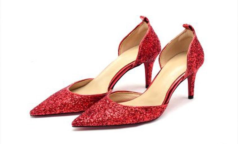 Sequins high heels