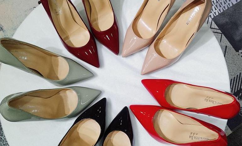 Massive high heeled shoes