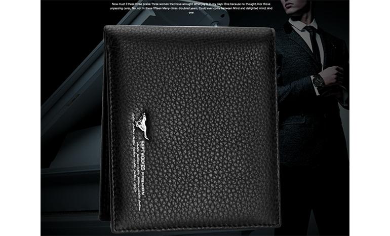 Genuine wolf men's wallet