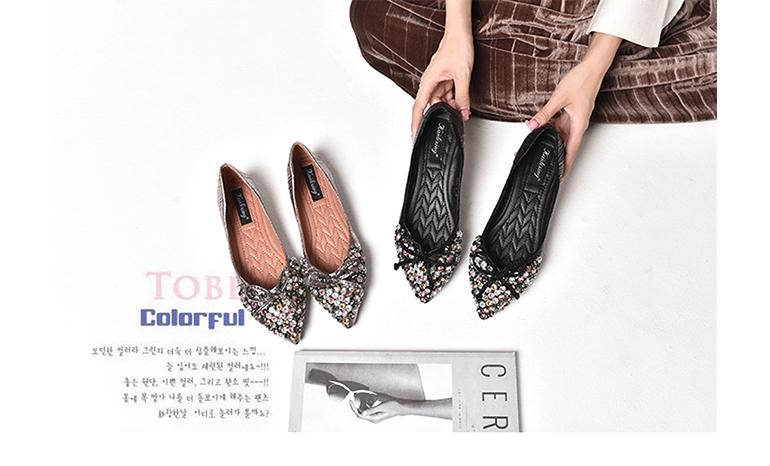 Single shoes female flat bottom