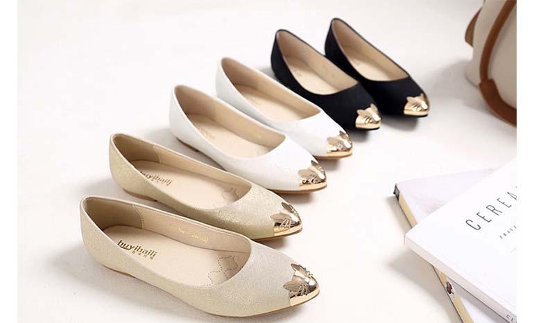 Flat single soft bottom scoop shoes female work