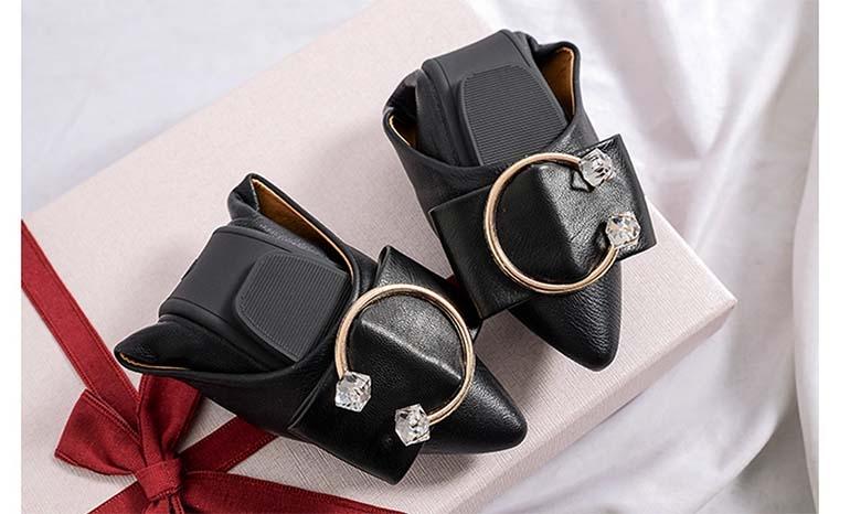 Flat single cross-border large size work shoes women