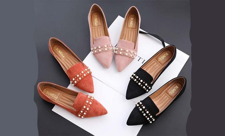 New autumn scoop shoes Korean