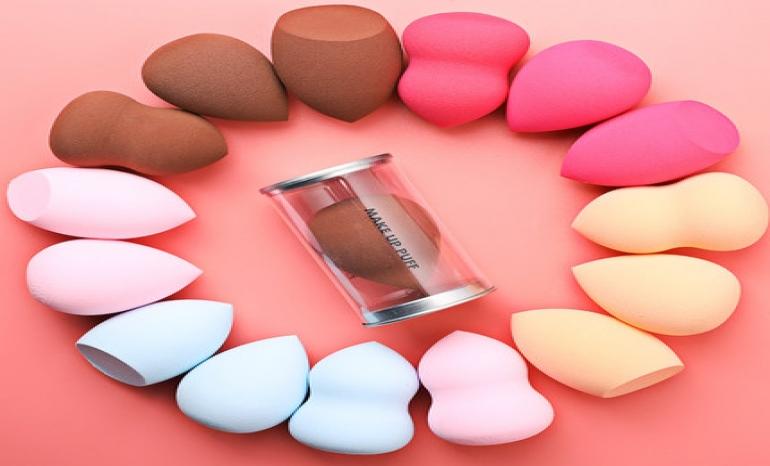 3 x1 set makeup sponge, makeup box beauty eggs
