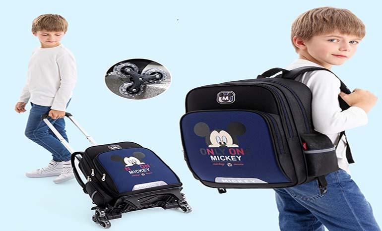Disney Trolley Schoolbag for Boys and Girls 1-3-4 Grade