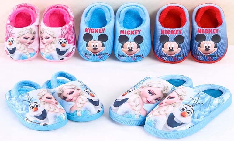 Children's cotton slippers girls winter baby cute indoor girl child cartoon princess warm home shoes