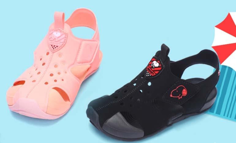 Snoopy children's shoes children's sandals 2019 summer new anti-collision Baotou sandals boys beach