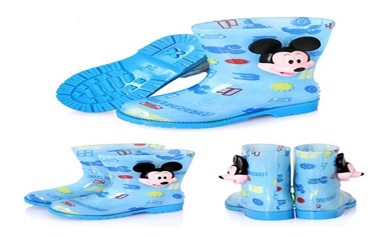 Children's rain boots boys and girls Disney Mickey cartoon non-slip water shoes