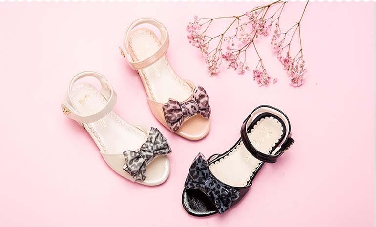 Fans girls sandals summer 2019 new fashion children's sandals female baby little princess bow shoes
