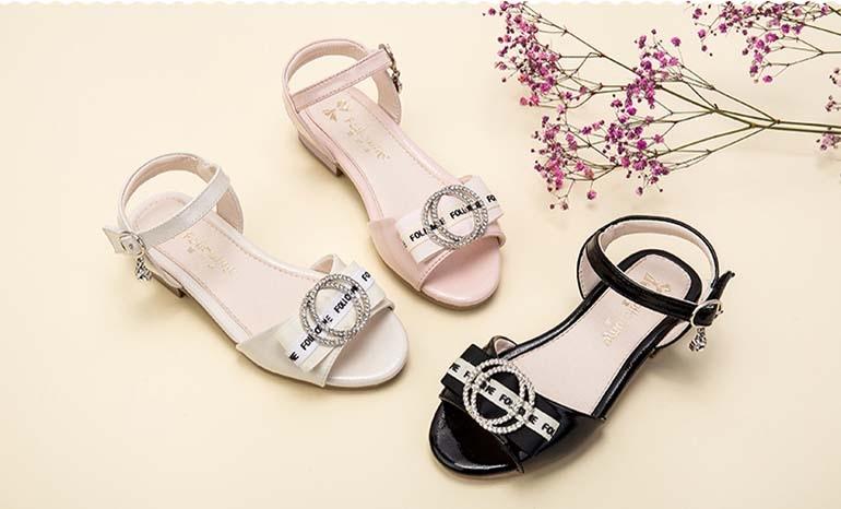 Fans girls sandals children's princess shoes summer 2019 new Korean fashion