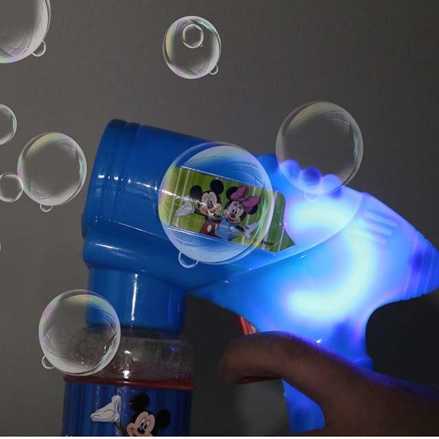 Disney baby electric bubble gun toy leak proof automatic blowing bubble machine bubble water replenishment