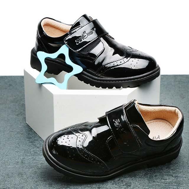 2019 performance leather soft bottom big children's shoes tide