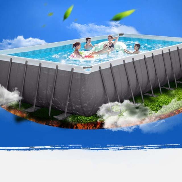 Intex large family swimming pool