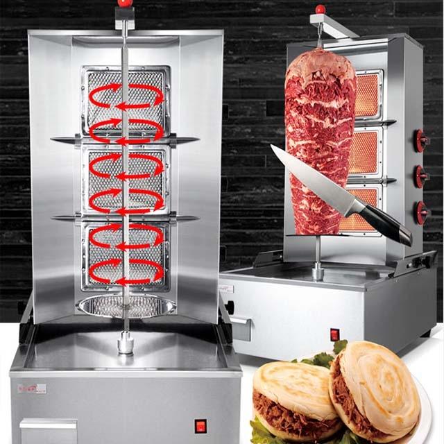 Shawarma machine 3 plates