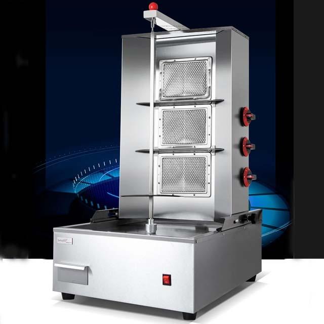 Shawarma machine automatic electric rotating -2 plates