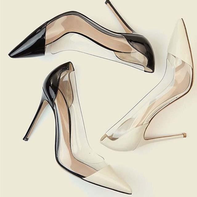Transparent high heels