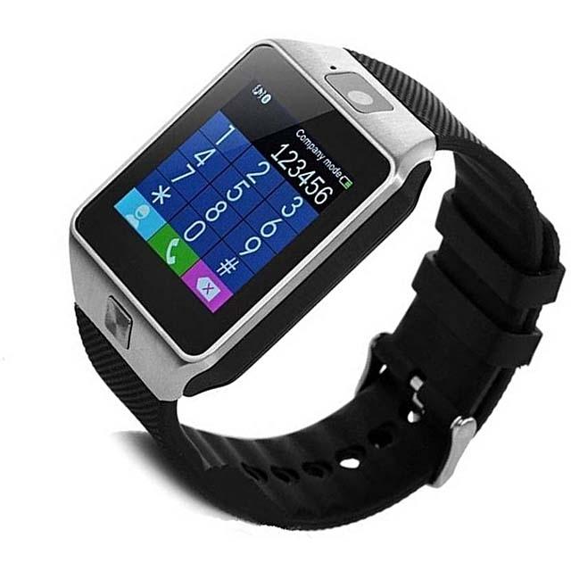 DZ09 Bluetooth Smart Watch - Black/Silver