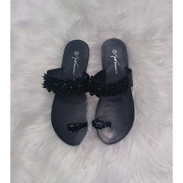 Black Open Sandals