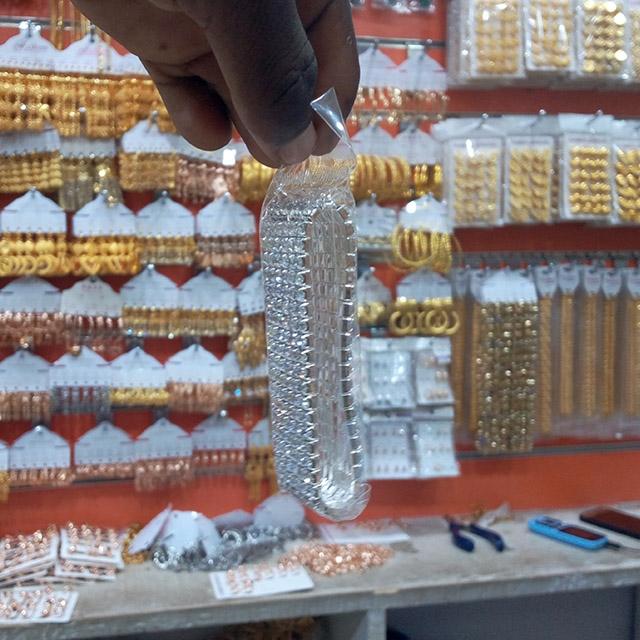 Thick wrist silver chain - 12 piece (Dozen)