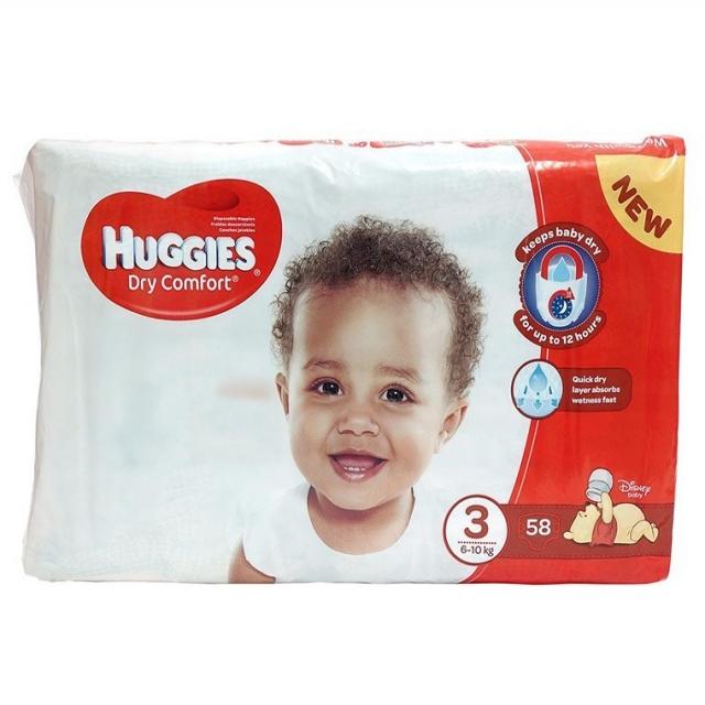 SKUVI - Huggies dry comfort 3(58 nappies)