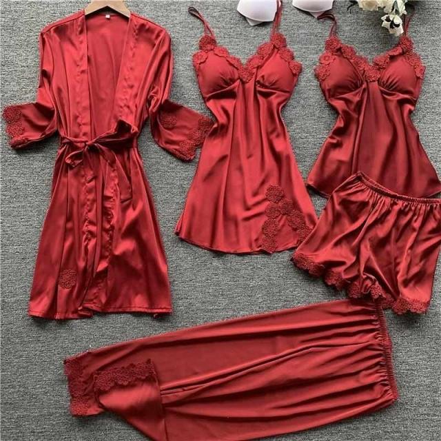 Lnyxc Lingerie Sleepwear - 1 set 5pcs